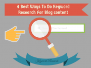 4 Best Ways To Do Keyword Research For Blog content