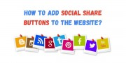 How to Add social share buttons to the website?