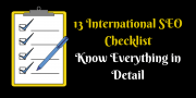 13 International SEO Checklist: Know Everything in Detail