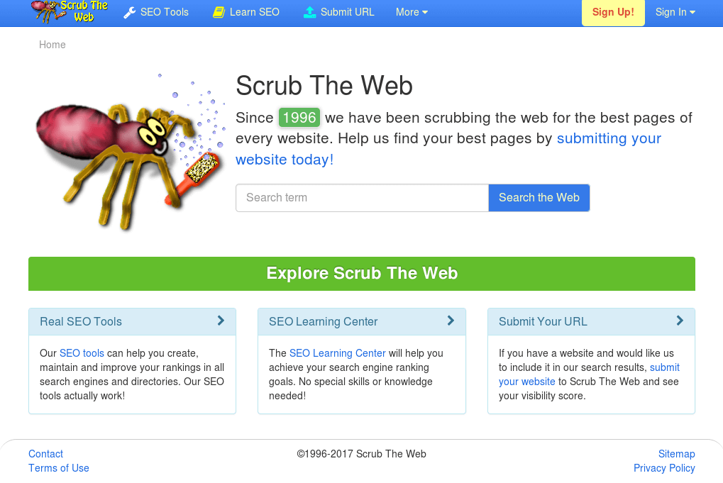 scrub the web