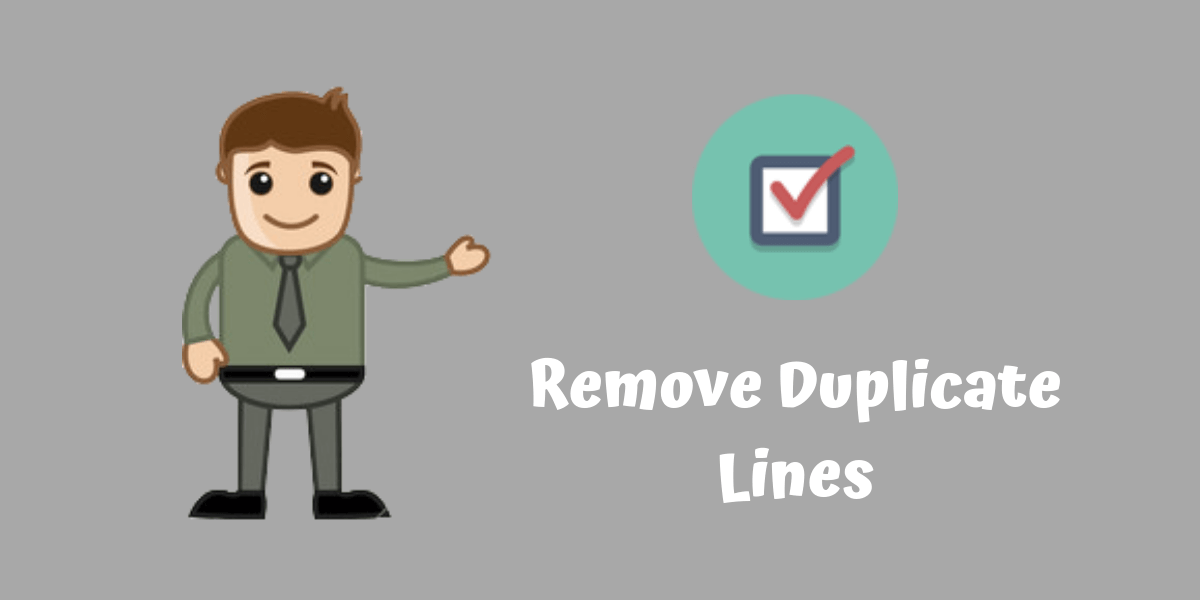 remove duplicate lines